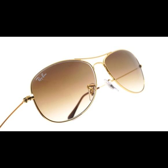 e903d68701 Ray-Ban Cockpit Sunglasses Gold Brown Gradient. M 5b91c393fb3803a0b2fc65a0